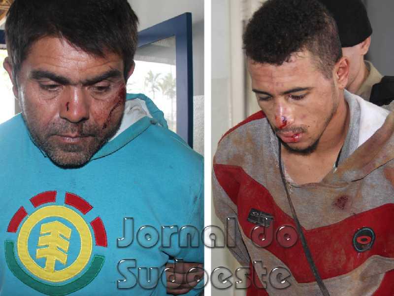 Os dois criminosos, M.R.B., de 47 anos, e V.A.B, naturais de Jundiaí,