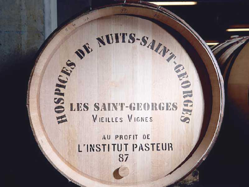 Domaine Hospices Nuits Saint Georges encheres piece charite