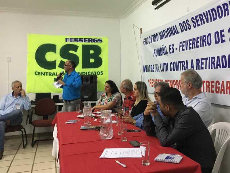 Dirigentes do Sempre participam de encontro sindical no  Espírito Santo para debater a proposta da reforma previdenciária