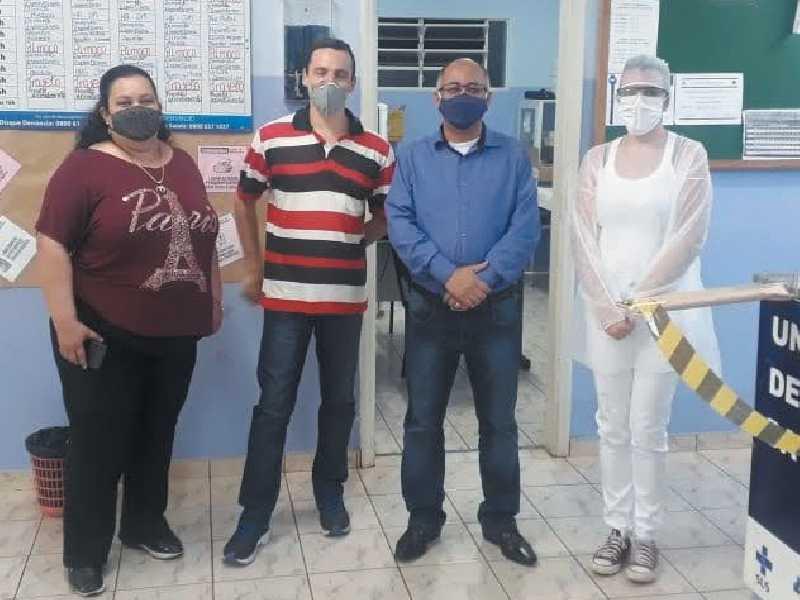 Visita setorial de diretores do SEMPRE-SUDOESTE/MG à Unidade de Saúde da Guardinha