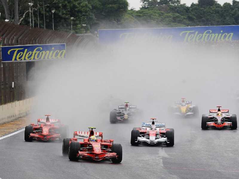 Largada do GP do Brasil de 2008