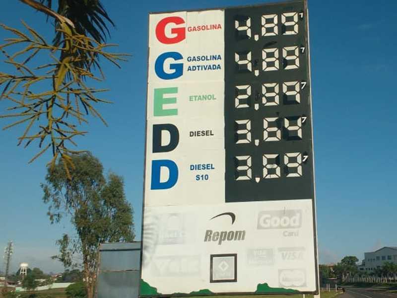 Nesta Sexta Feira 21/09 , no Posto Paraíso o preço   do litro da Gasolina e Etanol e