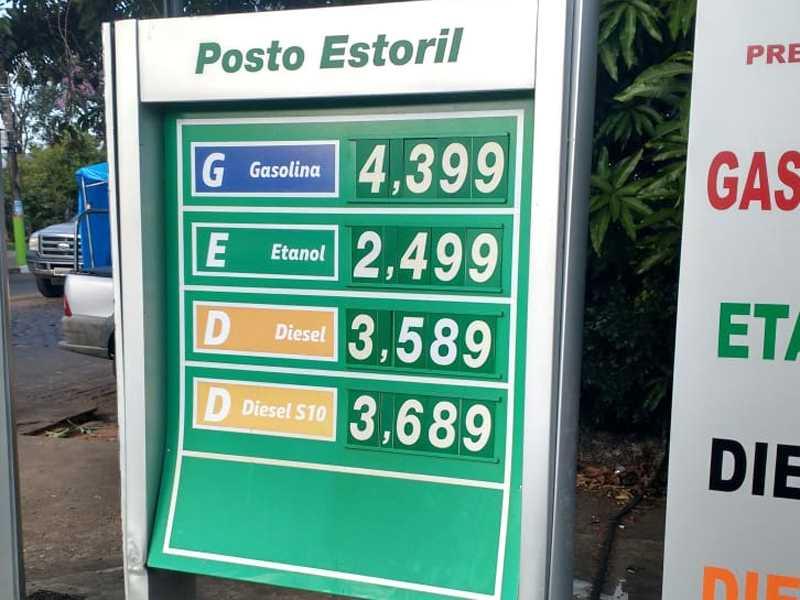 Vejam os preços dos combustíveis mais em conta na Rede de Postos Estoril aqui em Paraíso