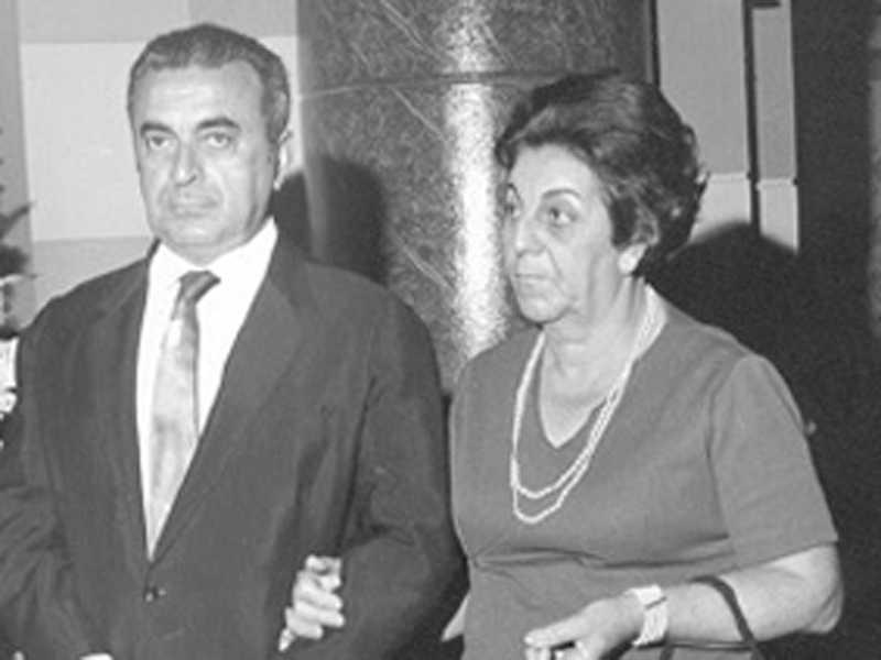 Ex-prefeito Salim Abrão e esposa Olga Abrão