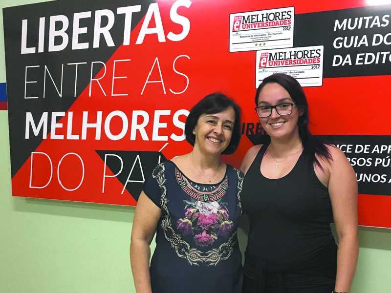 Doutora Walisete Godinho e a aluno Julia Colombaroli