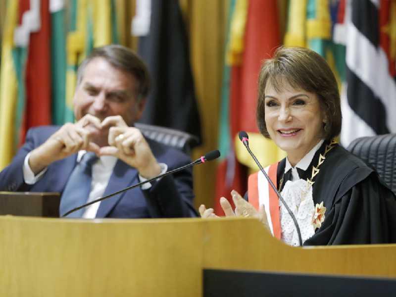 Bolsonaro e Cristina Peduzzi