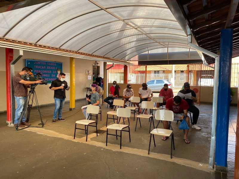 Primeiros voluntários foram recepcionados na Escola Gelcyra para exames preliminares