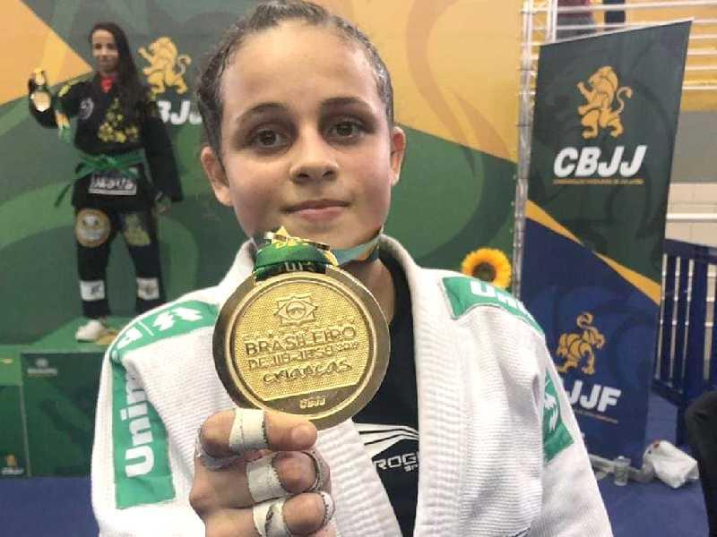Apesar da pouca idade, hoje Bianca é um dos grandes nomes do Jiu-Jítsu em São Sebastião do Paraíso