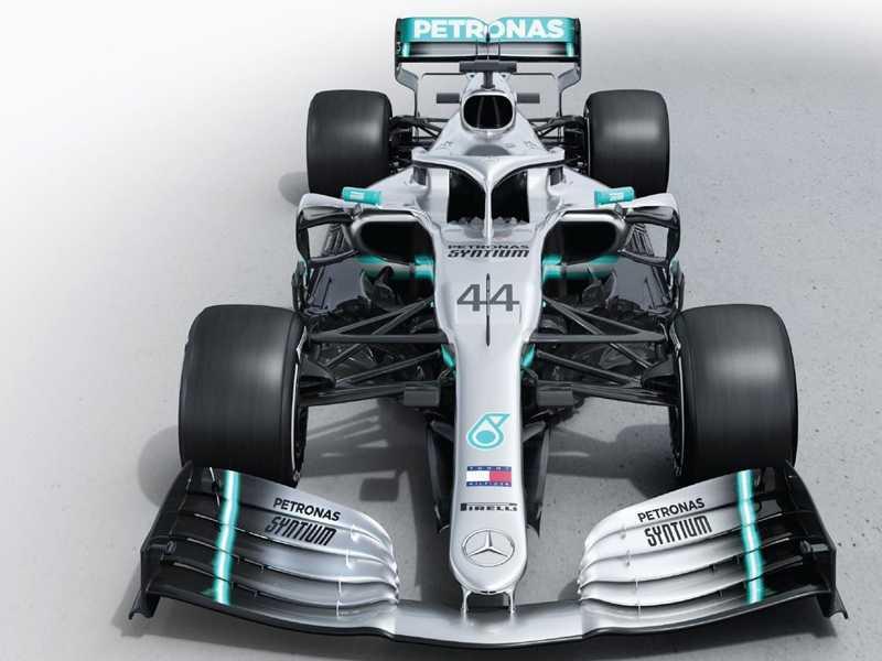 O belo W10 da Mercedes será o carro a ser batido nesta temporada da F1