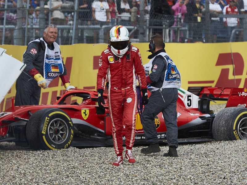 Erros de Vettel podem  abalar confiança da Ferrari