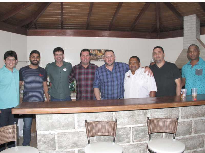Amarildo, Robert, Deputado Marcelo Alvaro Antônio, Dárcio Cantieri, Ricardo,  Maguila, Claudeir e Rogério