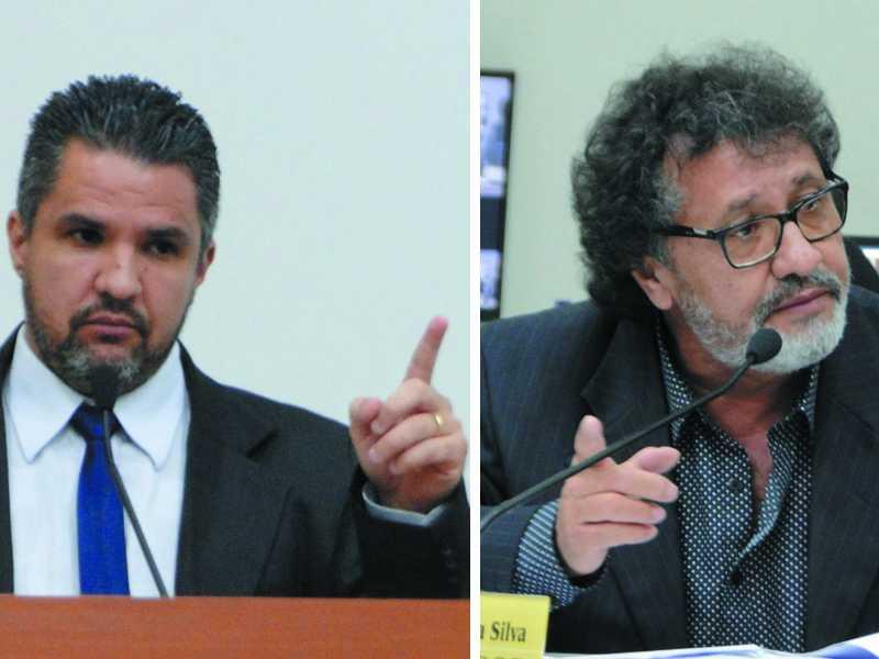 O clima esquentou entre Jerominho e Marcelo Morais, que chegaram a bater boca durante a sessão