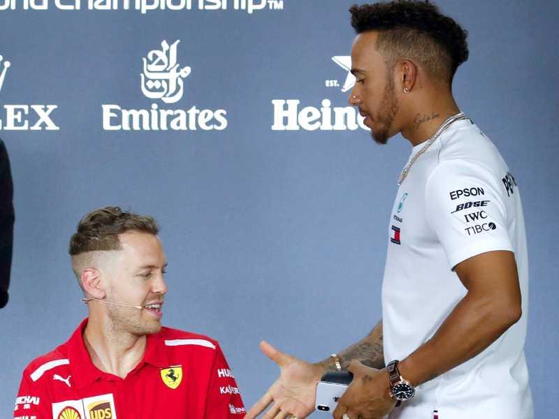 Hamilton e Vettel foram os protagonistas da década que passou na F1