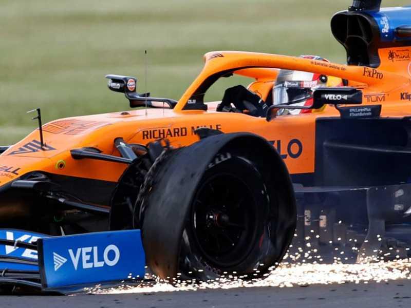 Pneus dianteiro esquerdo foram os vilões do GP da Inglaterra
