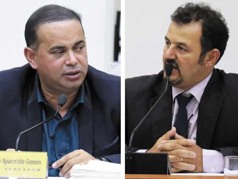 vereador Sergio Aparecido Gomes  e o vereador José Luiz das Graças