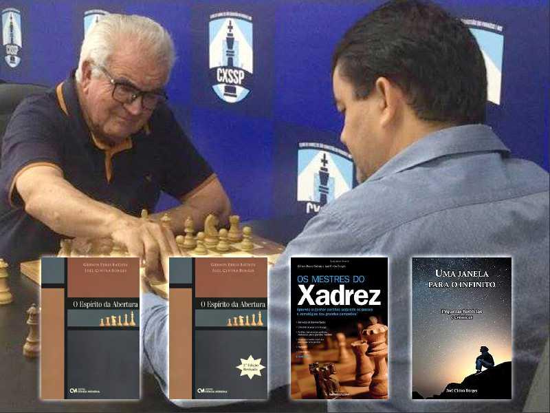Joel Cintra Borges e o presidente do Clube de Xadrez de Paraíso, Gerson Peres Batista