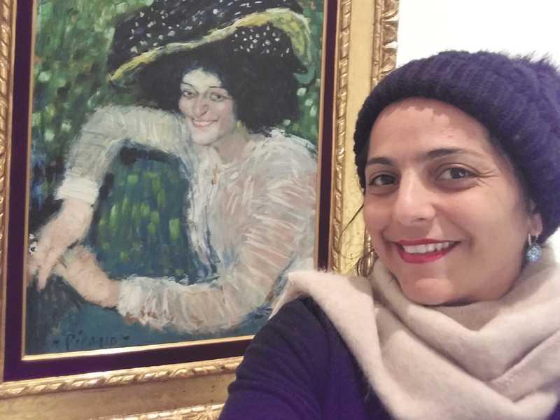Professora ana paula horta no Museu Reina Sofia, Madri, Espanha