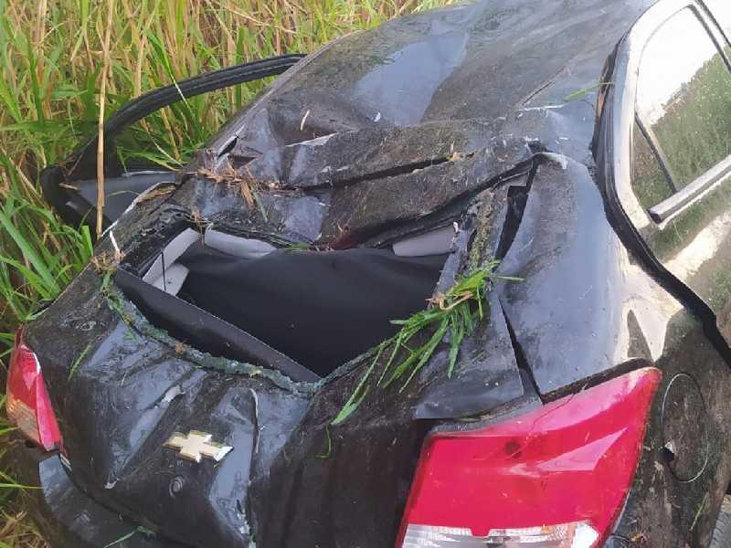 Vítima de acidente na MG-050, no sábado, foi socorrida e transportada a Itaú de Minas, onde reside