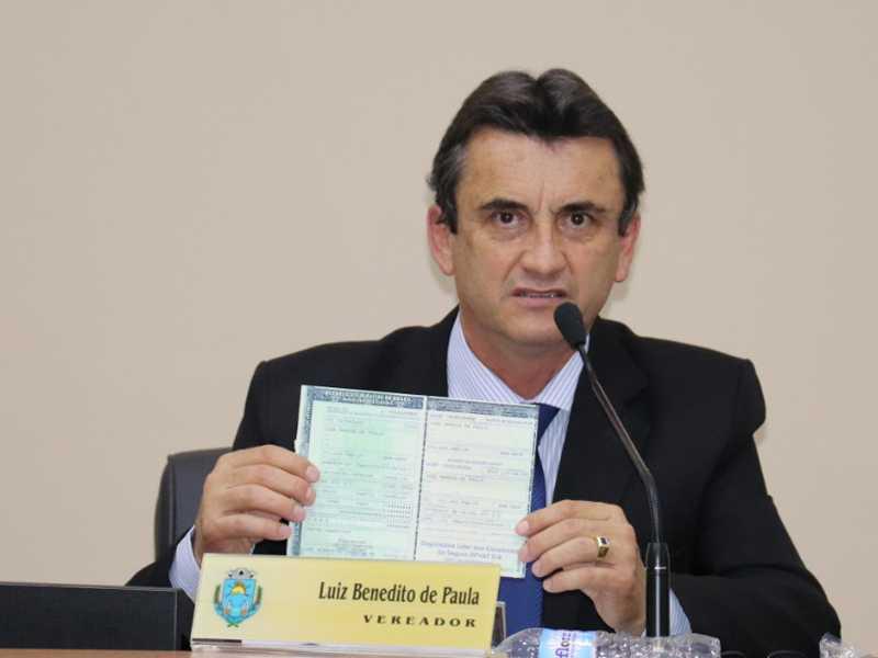 secretário da mesa diretora da Câmara, vereador Luiz de Paula