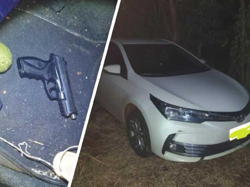 Veículo com placas do interior paulista tentou fugir de abordagem da PM