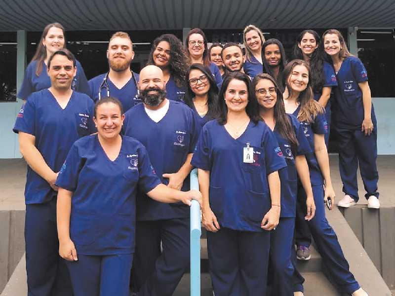 Equipe de fisioterapia da Santa Casa de São Sebastião do Paraíso