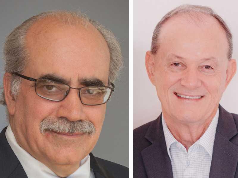 presidente Sicredi do Woccu, Brian Branch e Manfred Alfonso Dasenbrock, presidente da SicrediPar e da Central Sicredi PR/SP/RJ
