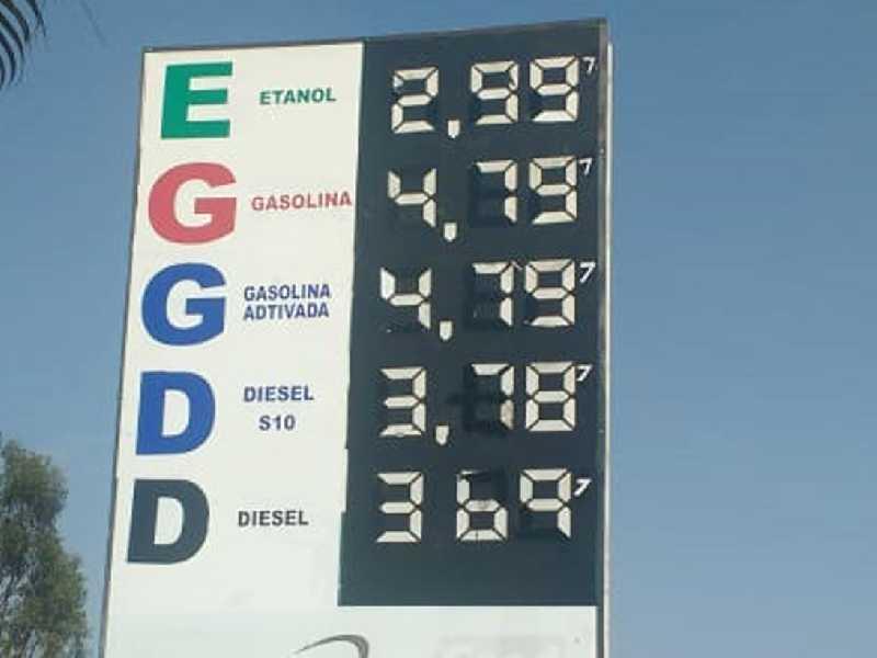 Posto Paraíso que fica em frente para a BR 491,  próximo ao Parque Belvedere, onde se vende o  litro da gasolina e do etanol  com os preços em  segundo lugar mais barato em Paraíso