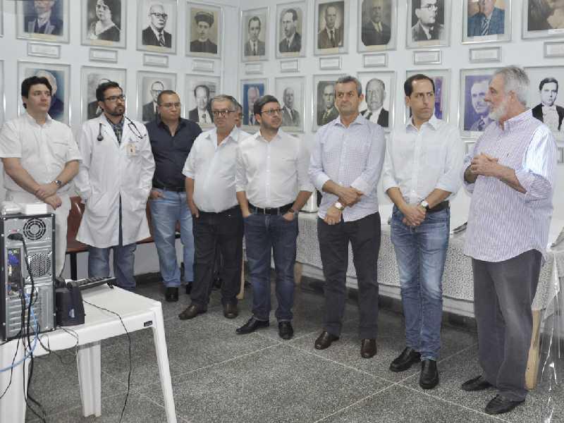 Durante renião foram feitos agradecientos as lideranças que colaboram pela manutenção do hospital