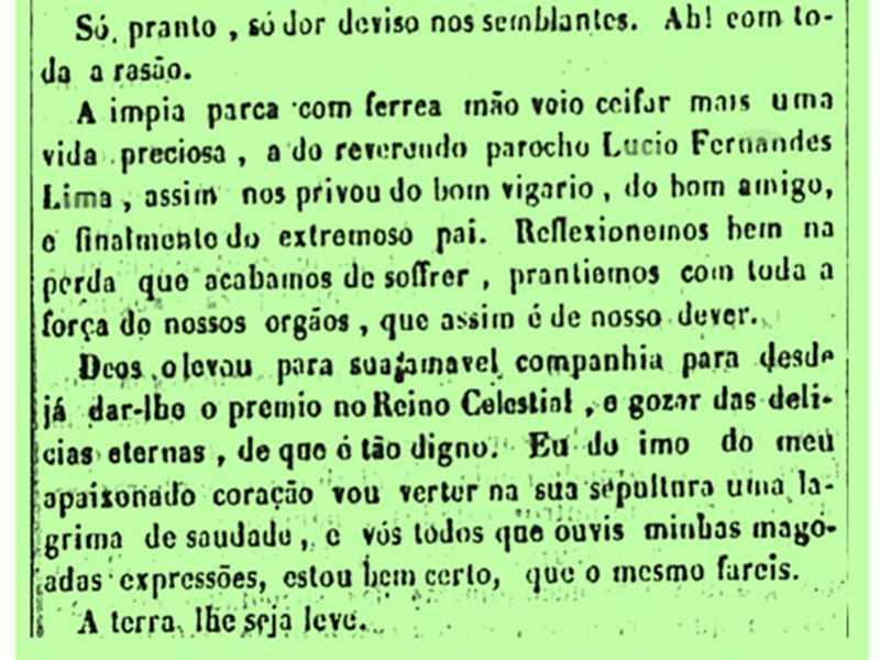 Fonte: Jornal o Bom Senso. Ouro Preto, em 21 de junho de 1856
