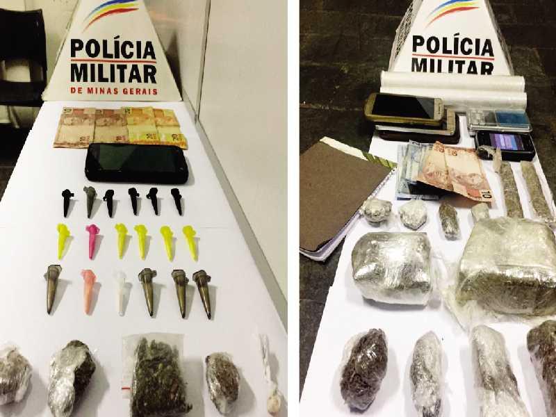 Drogas apreendidas nos bairros Village Paraíso e Jardim Planalto