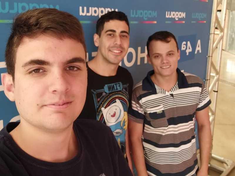 Alexandre Barberan Castilho (1º da direita (de preto); Alex Dias Silva (ao meio) Reinaldo Rodrigo Lucas (1º da esquerda)
