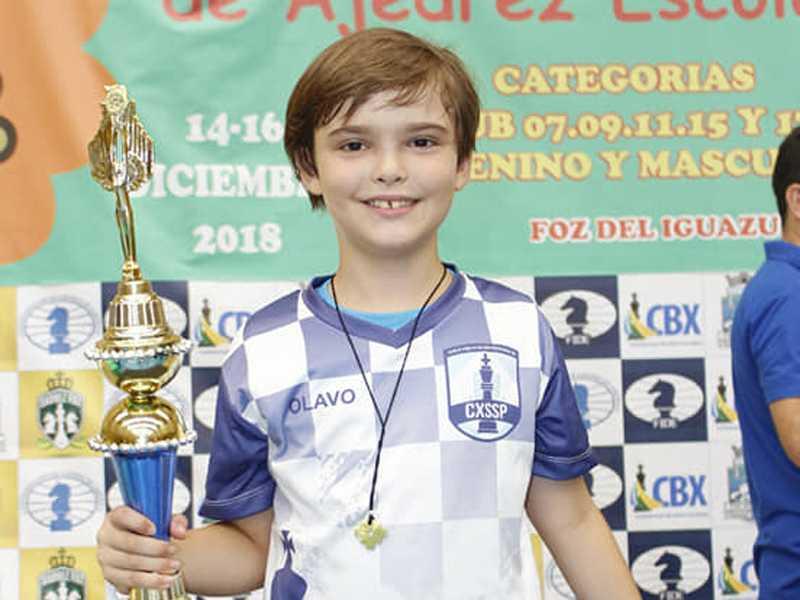 Olavo Tadeu Carvalho Oliveira termina o ano de 2018 com grandes resultados nos tabuleiros!