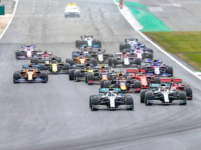Largada do GP da Inglaterra, uma das melhores provas dos últimos anos na F1