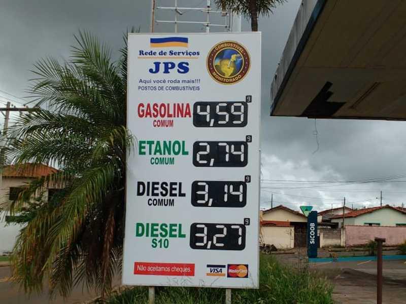 Posto JPS onde vende o preço mais barato do litro do Etanol e do Diesel em Paraíso