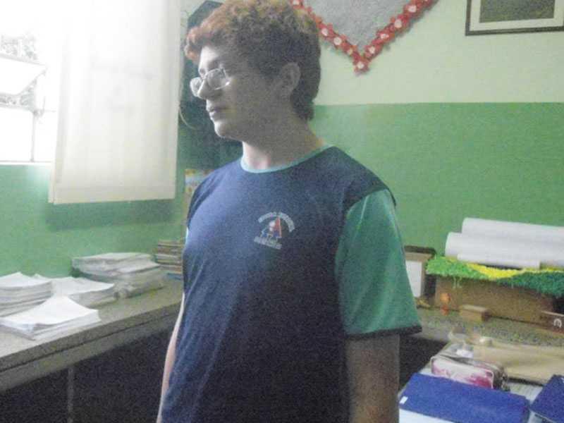 José Luiz Suelli Silva, 14, anos, aluno da Escola Estadual de Itamogi