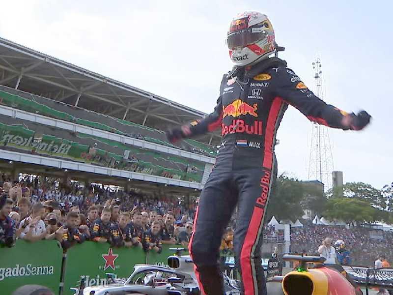 Max Verstappen festeja grande vitória no GP do Brasil