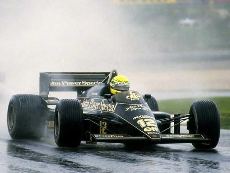 Ayrton Senna deu banho nos adversários na chuva do Estoril