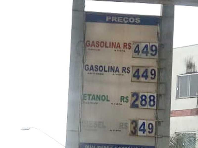 Preços de combustíveis nesta sexta (7/2), no Posto JPS em Passos, bem mais barato do que o posto da mesma rede em Paraíso