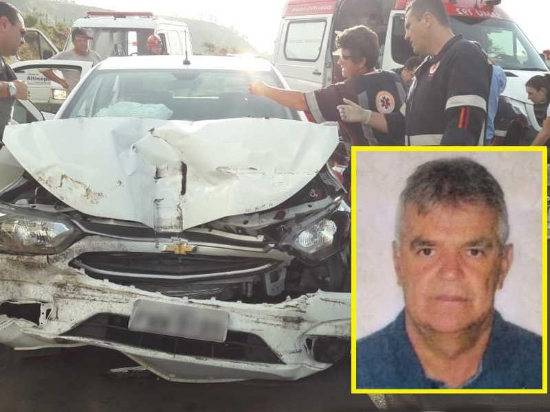 O vendedor Agmar José da Silva, de 59 anos, que residia em São Sebastião do Paraíso colidiu contra a traseira de um caminhão
