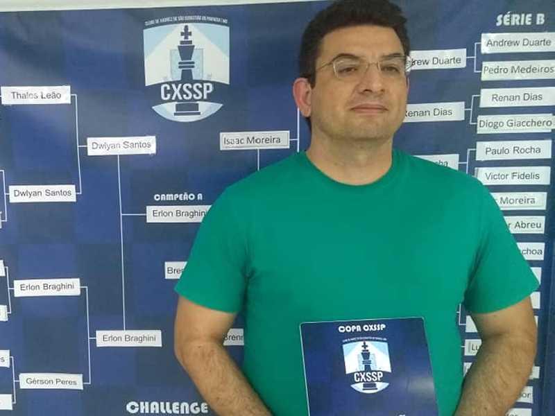 Erlon Braghini e Brenno Paschoa venceram a II Copa do Clube de Xadrez de São Sebastião do Paraíso