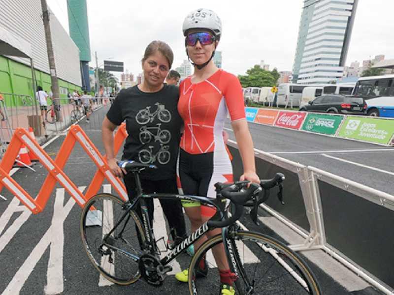 Ciclista de Paraíso, Ana Paula Finco Silva foi uma das medalhistas de Minas na quarta-feira em Blumenau