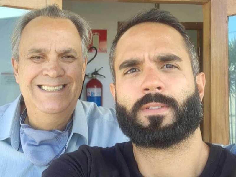 Luiz Amaral e seu filho Felipe Amaral