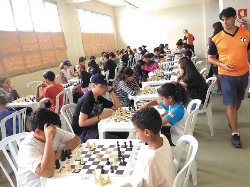 Etapa paraisense do Circuito Solidário de Xadrez foi um sucesso