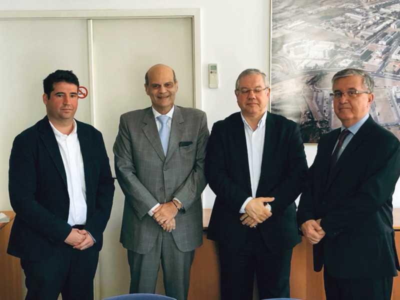 Pedro Rebordão, o vice-governador Paco Britto, Francisco Sá e Pedro Luiz Rodrigues