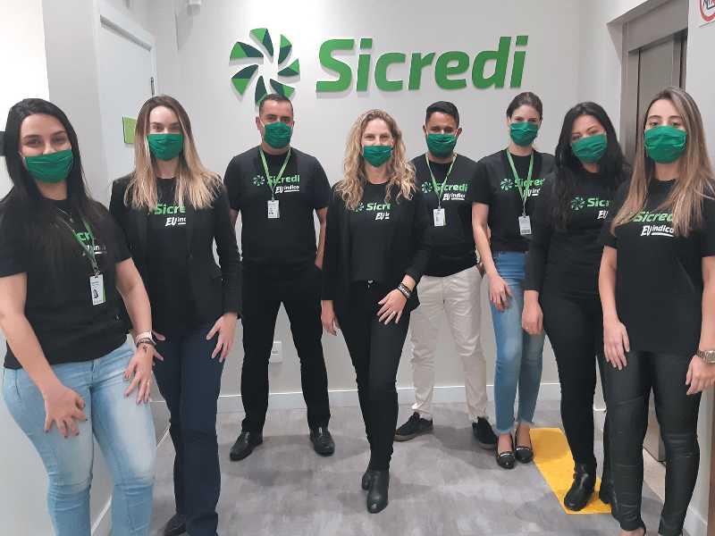 Equipe do Sicredi em São Sebastião do Paraíso