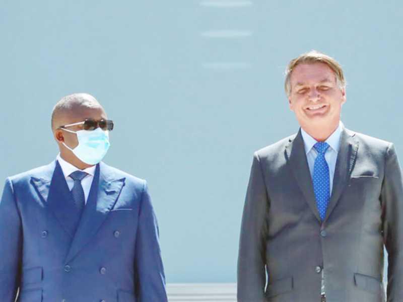 presidente Jair Bolsonaro recebeu ontem visita do presidente da Guiné-Bissau