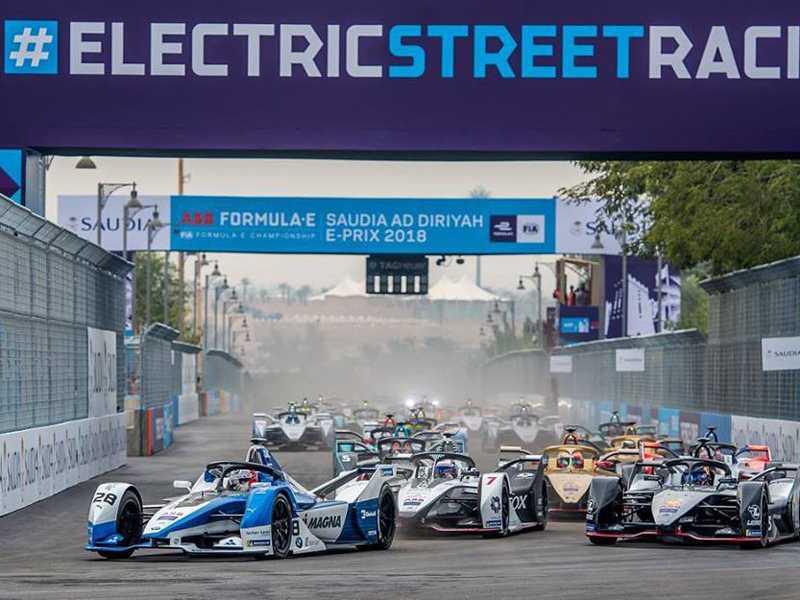 Largada da Fórmula E  2018/2019 em Ad Diriyah
