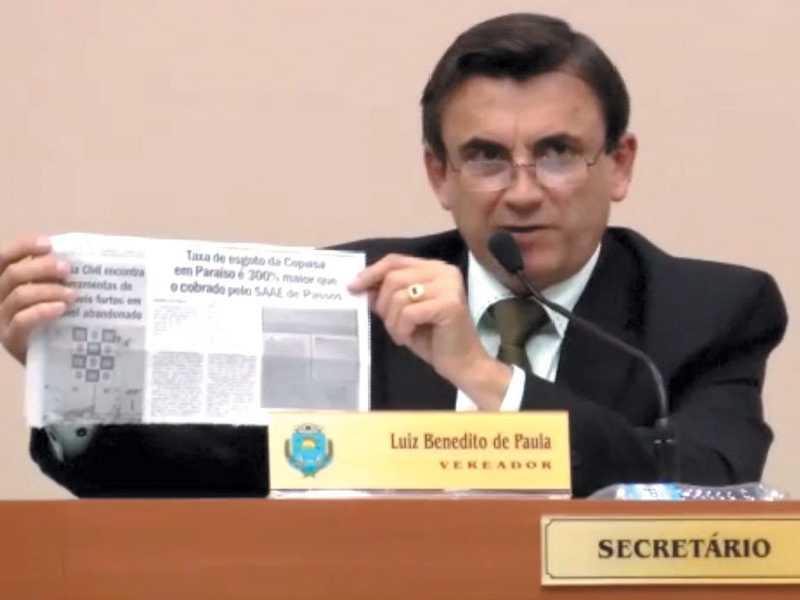 Vereador Luiz de Paula disse que vai representar contra a Copasa no Ministério Público