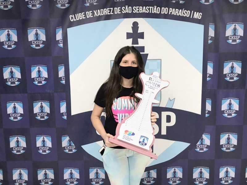 Larissa Campos, segundo lugar geral e campeã feminina