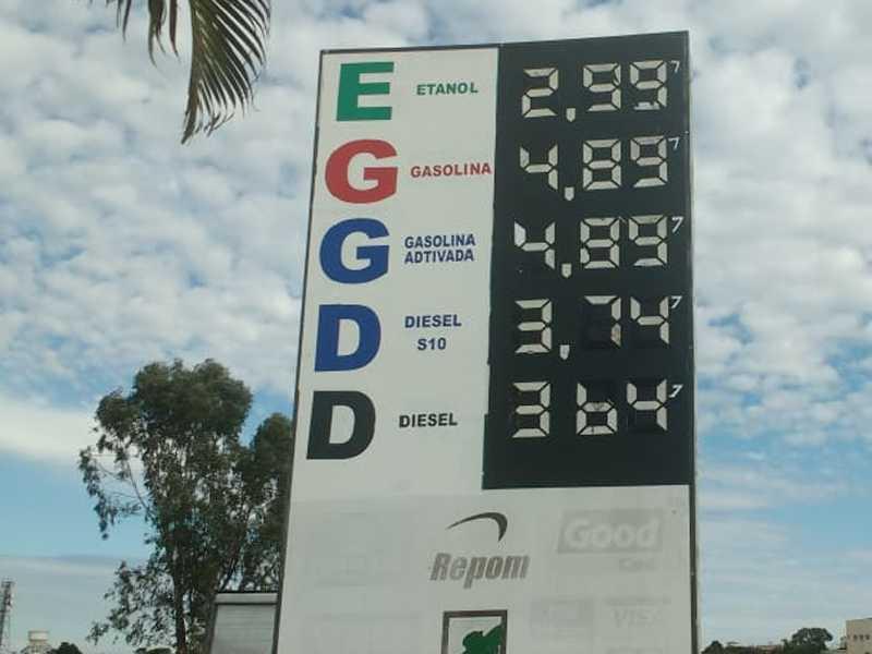 Posto Paraíso que fica localizado às margens da Rodovia  BR 491 no Parque Belvedere e' onde se Vende o preço  do litro da gasolina mais barato em Paraíso